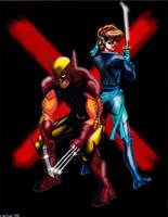 Wolverine and Shadowcat by VectorAttila