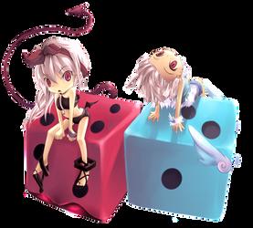 Lucky Twins. by Luky-Yuki