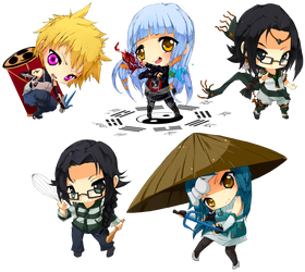 Chibi commissions by Luky-Yuki