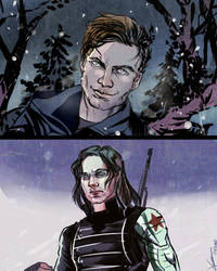 Bucky sketches by Ptit-Neko