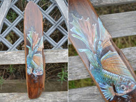 Betta Fish Wall Hanging by DawnstarW