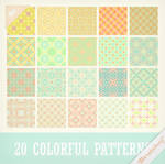 Patterns 27 - Sweet Colorful Patterns Set by Ransie3