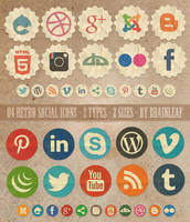 Retro Social Media Icons by Ransie3