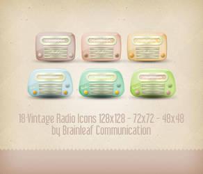 Vintage Radio Icons by Ransie3