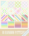 Rainbow Stripes and Dots Patterns by Ransie3