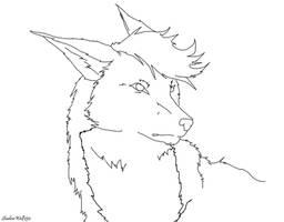 Wolf Lineart by ShadowWolf250