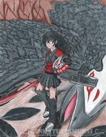 Fallen feathers| RWBY: Raven Branwen fanart by GenmaTheSamurai