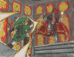 Battle of the Triforces| Ocarina of Time Fanart by GenmaTheSamurai