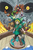 The power of masks| Zelda Majora's Mask Fanart by GenmaTheSamurai
