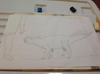 Daily Dinosaur #131 - Bagaceratops, Small Horn by Atlantis536