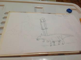 Daily Dinosaur #134 - Bainoceratops, Mountain Horn by Atlantis536