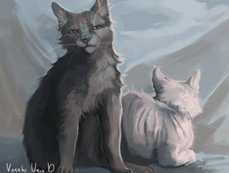 Crowfeather and Feathertail by Voraki