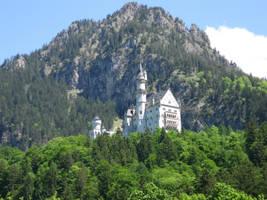Neuschwanstein castle in the spring by DelphineHaniel