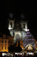 Christmas market and Tyn church by DelphineHaniel