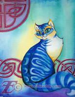 Blue Celtic Cat by felixxkatt