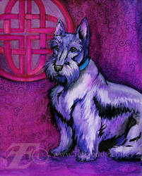 Celtic Scottie Dog by felixxkatt