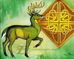 Celtic Stag by felixxkatt