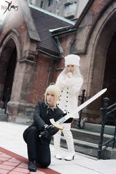 Fate/Zero - Saber and Irisviel by Angela-Chao