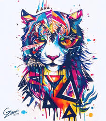 Abstract Tiger by 4thWinter
