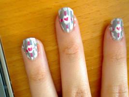 Companion Cube Nails FTW by Sharlotta22