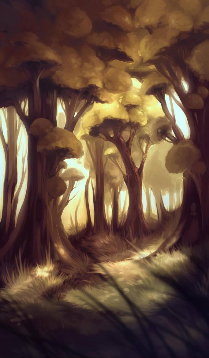 .forest. by Crimson-Mantella