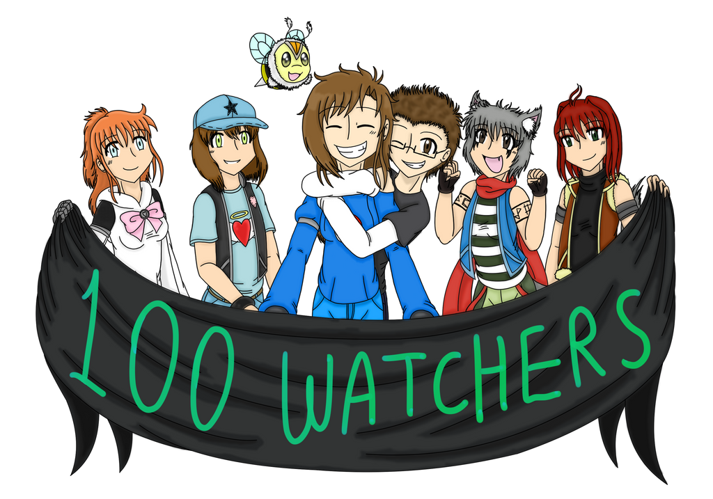 100 Watchers by CarlyChannel