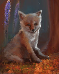 DAILY PAINT : Mister Fox #70 by Dan-zodiac