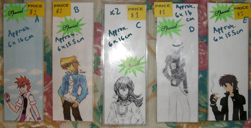 Bookmarks - $1 ea. Set by Aisuryuu