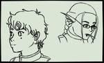 Quick Headshots - Sketch by Aisuryuu