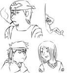 random pkmn OC doodles by Aisuryuu