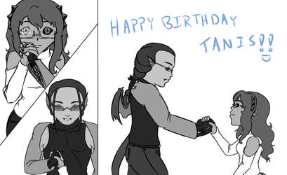 Gift Art - Tanis Bday by Aisuryuu