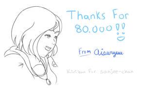 80,000 Kiriban - For Sanjee-chan by Aisuryuu