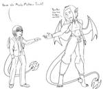 AoH - Line Art - Concept vs Current Draco by Aisuryuu