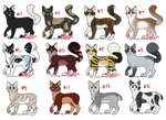 cat adoptables (3/12 open) by VulpesVulpees