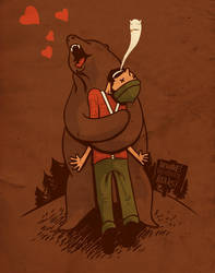 Passionate bear by mathiole