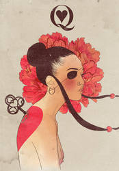 Queen of hearts by mathiole