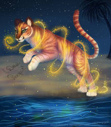 A Special Gift - Sunset Tigress by BluuLeopard