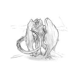 Test Dragon (sketch) by allhailinsanity