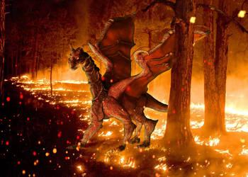 BushFire Dragon by allhailinsanity