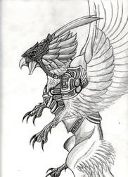 Mayan war bird concept by BrazilDragon