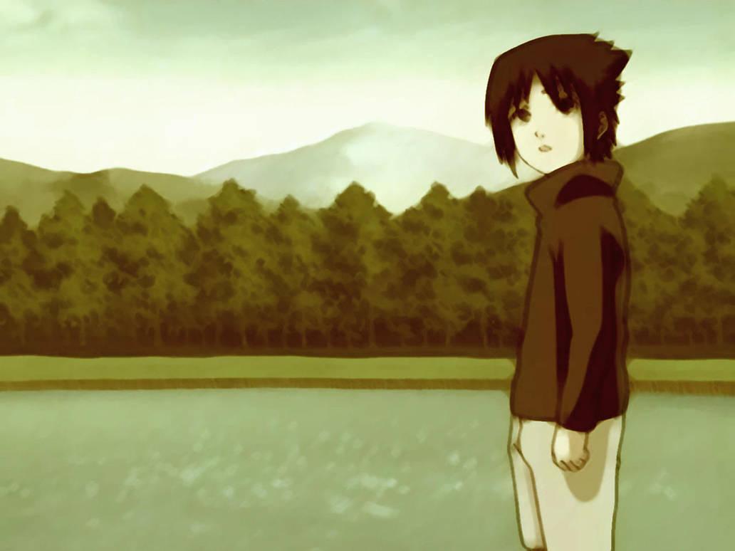 Sasuke Staring by electric-pervert
