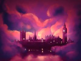 London at night  by EdwardTheBadass