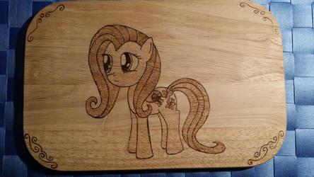 Fluttershy Wood Board by XTorbenX