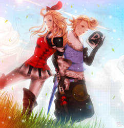 Bravely Default: Edea and Ringabel by NamiYami