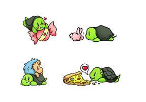 Cute Turtles by Kawaii-Week
