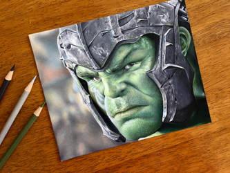 Drawing the Hulk   Thor: Ragnarok by AmongSakura