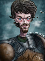 Theon Greyjoy Caricature - Game of Thrones by HJacobi