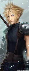 Cloud Strife Final Fantasy VII Remake by ArchaediaStudios