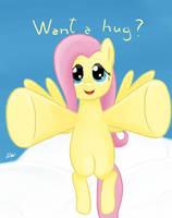 Fluttershy Hug by monteruis