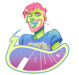 Commission: The Neon King by LiamSkitso